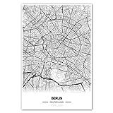Zulumaps Poster 20x30cm Stadtplan Berlin - Hochwertiger Kunstdruck