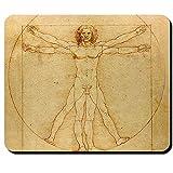 Leonardo Da Vinci der vitruvianische Mensch Kunst Wissenschaft Anatomie Mensch Geschichte Darstellung - Mauspad Mousepad Computer Laptop PC #16302