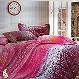Aapno Rajasthan Gradual Leaf and Tiny Floral Prints Cotton Bedsheet Set - Multicolor