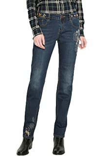 Desigual Damen Jeans Denim Amy 18WWDD38: : Bekleidung