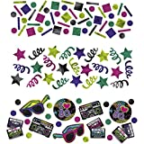 34g Deko Konfetti 80er Jahre Party Tischkonfetti Bunte Dekokonfetti Disco Partykonfetti Geburtstag Tischdeko