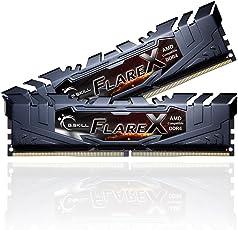G.Skill DDR4 Flare X 3200Mhz PC4-25600 CL14-14-14-34 1.35 Volt Dual Channel Kit (2x8GB) for AMD l (F4-3200C14D-16GFX)