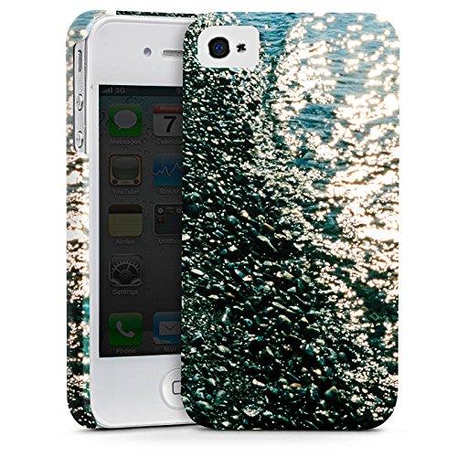 Apple iPhone X Silikon Hülle Case Schutzhülle Ufer Kiesel Wasser Premium Case glänzend