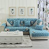 lovecover Plüsch Sofa möbel protector für haustiere kinder Ganze saison Anti-rutsch Schnittsofa werfen abdeckung pad Sessel schoner L-form Couch abdeckung-1 stück-A 28x59inch(70x150cm)