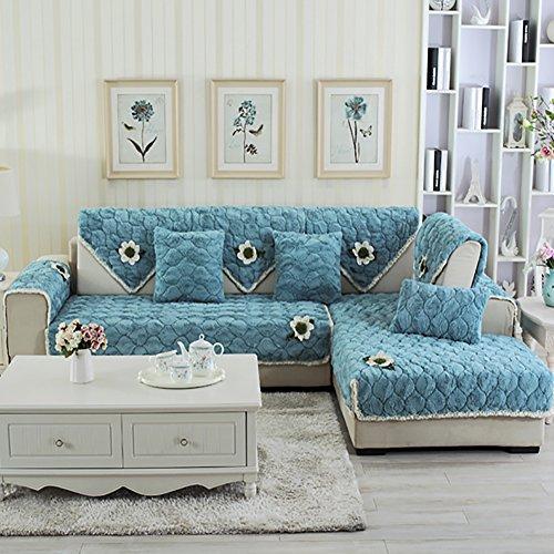 lovecover Plüsch Sofa möbel protector für haustiere kinder Ganze saison Anti-rutsch Schnittsofa werfen abdeckung pad Sessel schoner L-form Couch abdeckung-1 stück-A 28x59inch(70x150cm) (Sessel Sofa Loveseat Modernes)