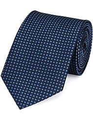 Krawatte blau schwarz kariert von Fabio Farini