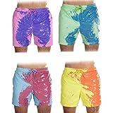 Costume da Bagno cambiando Colore Divertente Shorts da Spiaggia cambiando Colore da Uomo Rainbow Multicolor Elements Cambia Colore in Pantaloni da Spiaggia con Acqua