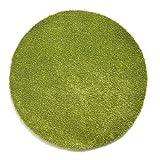 Komfort Shaggy Teppich Badematte Happy Wash rund - waschbar, trocknerund pflegeleicht | schadstoffgeprüft & strapazierfähig | ideal für Bad/Badezimmer, Farbe:Grün, Größe:300 cm rund
