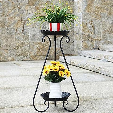 WTL Porte-fleurs Plancher en bois à plusieurs étages Étagère polyvalente en polyuréthane Multi-fleur à étages Salon de style européen Étagère à fleurs de balcon Radis vert ( Couleur : A )
