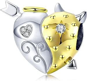 GDDX Collezione di Piante Animali Perline Charms per Gioielli Pandora Collana Bracciale Regali per Donna Ragazza