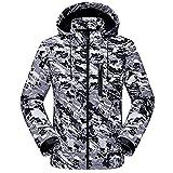 GITVIENAR Homme Coupe-vent Capuche Veste Quick Dry Respirant Outdoor Sport Veste de Camping Randonnée Polaire chaud camouflage