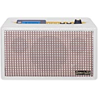Trevi Seventy Six Anniversary 70's Style Retro FM Radio Stereo Amplifier / MP3 Player with Bluetooth, Programmable Alarm Clock, USB and AUX-IN (White)