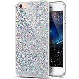 iPhone 5caso, iPhone 7caso, ikasus con lentejuelas Glitter Bling polvo 3d diamond paillette Slim con purpurina Flexible suave de goma carcasa de Gel TPU Bumper Funda Para Apple iPhone/iPhone 3, 4, 6, 7, 8