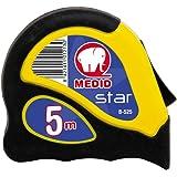 Medid MD/B525 Flexómetro STAR con estuche bimaterial, con freno y clip, 5 m x 25 mm