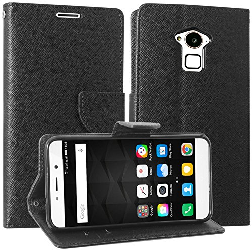 DMG Wallet Flip Cover for Coolpad Note 3 / Coolpad Note 3 Plus (All Black)