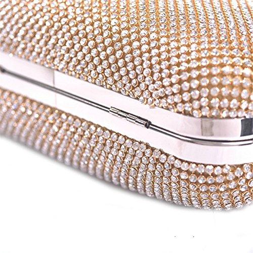 ERGEOB® Donna Clutch Clutch sacchetto di sera cristallo taschino per Party Festa matrimonio nero