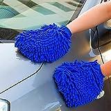 Auto Motorrad Beste Deals - Mikrofaser Waschhandschuh Auto Handschuhe Xpassion 2 Stück Felgenhandschuhe Reinigungstuch Auto-Reinigungstuch Sowie Poliertuch für Auto Motorrad Reinigung