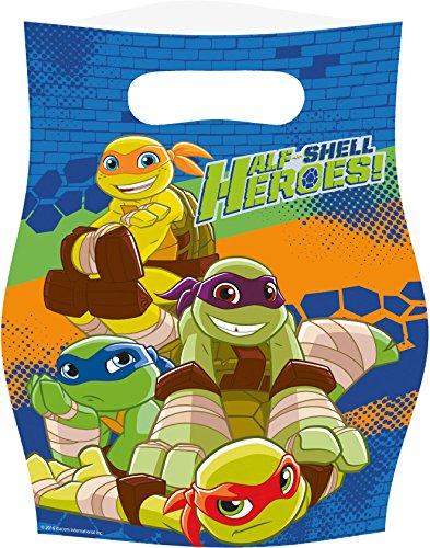 (Amscan 8 Partytüten * Teenage Mutant Ninja Turtles * für Eine Mottoparty Oder Kindergeburtstag // Half Shell Heroes // Schildkröten Superheld Party Geburtstag Mitgebsel Geschenktüten Tüten)