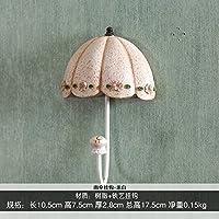 FuRongHuang The Living Room Decoration Umbrella Hook Key Hook Hook Wall Princess Dress Coat Hook,Rice White Round Bottom Umbrella Hook