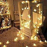 WOOCIKA Guirnalda Luces, 10M 100 LED Blancas de Luz Cálida Cadena de Luces, Bombillas Blanco Cálido para Casas, Fiesta, Boda, Jardín Decoración