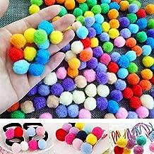 Rungao 100 unidades bolas Pompones suaves de peluche ideal para bricolaje decoración