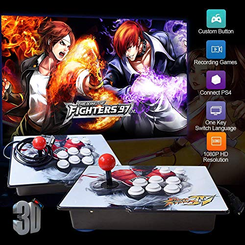 PinPle Arcade Spielkonsole 1080P 3D & 2D Spiele 2020 in 1 Pandora Box Kit Classic Arcade Game Machine 2 Spieler Arcade Machine Arcade Joystick Support Expand 6000+ Spiele für KOF King of Fighters