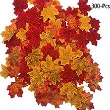 FUJIE 300 Piezas Hojas de Arce otoño Artificiales Hojas de Seda Otoño Artificiales Coloridas Multicolor Decoración