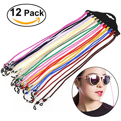 Price comparison product image NUOLUX Eyewear Cord Neck String Spectacle Frame Holder 12pcs(Random Color)