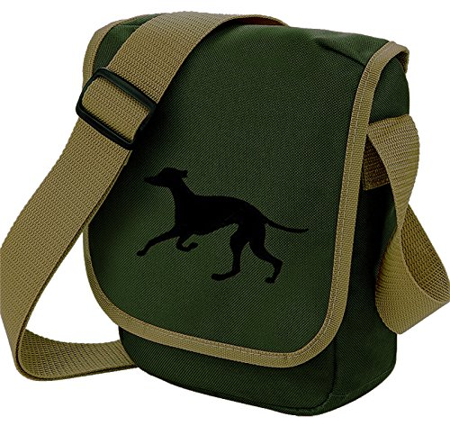 Bag Pixie - Borsa a tracolla unisex adulti Black Hound Olive Bag
