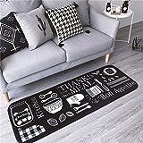 Antiscivolo passatoia cucina tappeti e tappeti per pavimento per bambini room-19.7x 169,9cm, Black - Best Reviews Guide