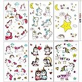 Konsait Einhorn Tattoos Set, Einhorn & Regenbogen temporäre Tattoos Kinder Aufkleber Sticker für Mädchen Kindergeburtstag Mitgebsel Einhorn Party Über 300 Tattoos hergestellt von Konsait
