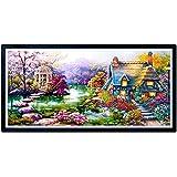 aihome DIY 5d Diamond mosaico paisajes jardín Lodge pintura Kits de punto de cruz bordado de diamantes decoración para el hogar