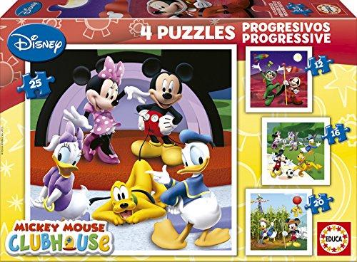 educa-15288-la-casa-de-mickey-mouse-puzzle-4-unidades-12-16-20-y-25-piezas