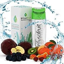 ¿Fruta de la botella de agua con filtro InfusaFruit: vas a Gulp la pulpa? | Hacer su agua delicioso!, color verde
