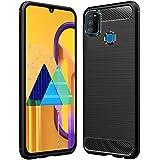 Amazon Brand - Solimo Silicon Plastic Soft & Flexible Back Case Mobile Cover for Samsung Galaxy M21 (Black)