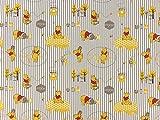 Disneystoff Winnie Puuh Honigtopf, Streifen, Meterware ab 0,5 m