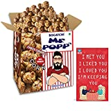 BOGATCHI Mr.POPP's Dark Chocolate Popcorn, 100% Crunchy HandCrafted Gourmet Popcorn Snacks | NO Microwave needed | Best Movie / TV Time Snack, Best Anniversary Gift for Parents, 250g + FREE Happy Anniversary Greeting Card