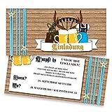Einladungskarten zum Geburtstag - Oktoberfest | 30 Stück | Inkl. Druck Ihrer persönlichen Texte | Individuelle Einladungen | Karte Einladung