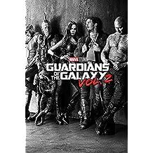 Poster Marvel Guardians of the Galaxy Vol. 2 - Personnages (61cm x 91,5cm) + 2 tringles transparentes avec suspension