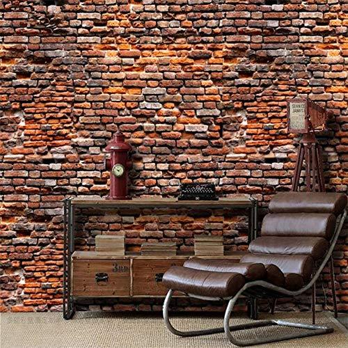 Cucsaistat Wallpaper Jahrgang Roten Ziegeln Tapete Wand 3 D Landschaft Wohnzimmer Schlafzimmer 3D Foto Wandbild Tapete