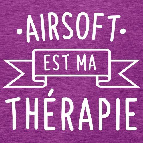 L'airsoft est ma thérapie - Femme T-Shirt - 14 couleur Rose Antique
