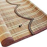 Bambù Tenda tonalità Naturali di bambù Tende a Rullo per finestre/Porte, pensili avvolgibili con portavalvole e tiranti Laterali (Dimensioni : 50×160cm)