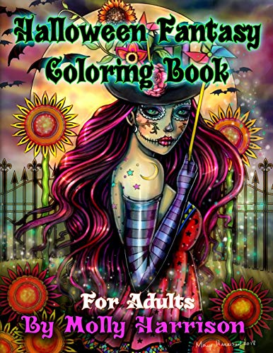 loring Book For Adults: Featuring 26 Halloween Illustrations, Witches, Vampires, Autumn Fairies, and More! ()