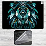Lion Colorful Tribal Tattoo Art Laptop S...