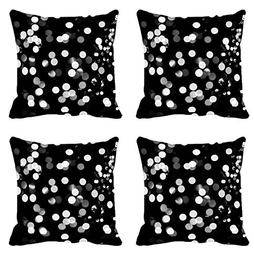 White Spots Digitally Printed Cushion Cover (12x12)