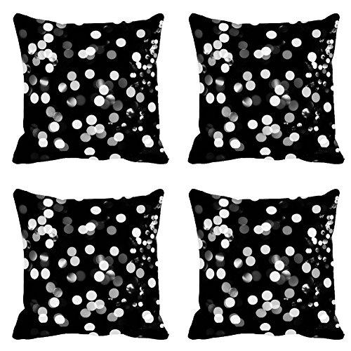 White Spots Digitally Printed Cushion Cover (12x12)