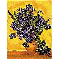 Kit de punto de cruz. Jarrón con Irises (Van Gogh)