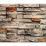 murando - Fototapete Steinoptik 400x280 cm - Vlies Tapete - Moderne Wanddeko - Design Tapete - Wandtapete - Wand Dekoration - Steintapete Steine Stein Mauer Steinoptik 3D f-B-0127-a-a