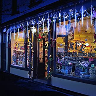 Guirnalda Luces Exterior, 10 Tubo 50cm LEDs IP65 Impermeable luz Navidad, Impermeable Iluminacion Jardin Decorativas Fiestas