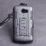 Cocomii Robot Armor LG K5 Hülle [Strapazierfähig] Erstklassig Gürtelclip Ständer Stoßfest Gehäuse [Militärisch Verteidiger] Ganzkörper Solide Case Schutzhülle for LG K5 (R.Black)